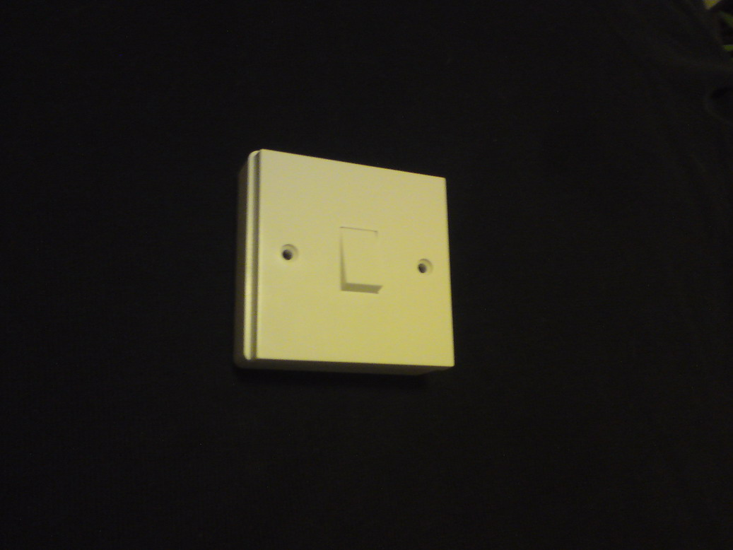 1 Way Light Switch With Surface Mount Fixing Box